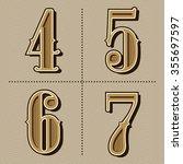 western alphabet letters... | Shutterstock .eps vector #355697597