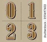 western alphabet letters... | Shutterstock .eps vector #355697603