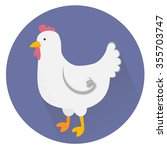 illustration of a cute chicken  ... | Shutterstock . vector #355703747