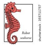 marine drawings. vector... | Shutterstock .eps vector #355711757