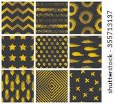 set of spectacular patterns... | Shutterstock .eps vector #355713137