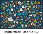 colorful vector hand drawn... | Shutterstock .eps vector #355715717