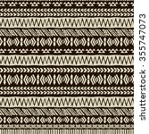 brown vector aztec seamless... | Shutterstock .eps vector #355747073