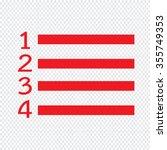 numbered list icon illustration ...