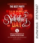 valentines day party poster... | Shutterstock .eps vector #355765667
