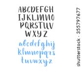 vector alphabet. hand drawn... | Shutterstock .eps vector #355797677