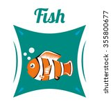 sea life  concept with fish... | Shutterstock .eps vector #355800677