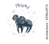 aries zodiac sign. | Shutterstock .eps vector #355813973