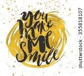 smile concept inspirational... | Shutterstock .eps vector #355818107