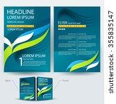 abstract vector modern flyers... | Shutterstock .eps vector #355835147