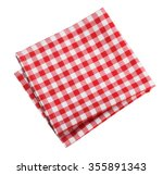 table cloth kitchen red color... | Shutterstock . vector #355891343