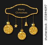 illustration merry christmas... | Shutterstock . vector #355894097