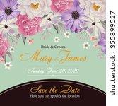flower wedding invitation card  ...   Shutterstock .eps vector #355899527