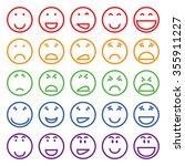 multicolored vector set of... | Shutterstock .eps vector #355911227