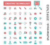 creative marketing  icons ... | Shutterstock .eps vector #355917653