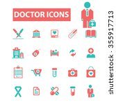 doctor  clinic  icons  signs... | Shutterstock .eps vector #355917713