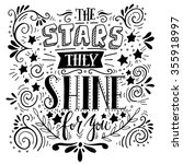 stars they shine for you. quote.... | Shutterstock .eps vector #355918997