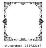 art nouveau picture frame | Shutterstock .eps vector #355923167