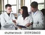 scientific researcher holding a ... | Shutterstock . vector #355928603