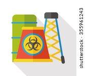 factory smoke flat icon | Shutterstock .eps vector #355961243