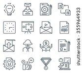 project development icon set... | Shutterstock .eps vector #355964933