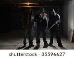 gang members in a dark alley   Shutterstock . vector #35596627