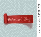 valentines day realistic red... | Shutterstock .eps vector #355971527