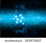 dark blue color light abstract... | Shutterstock .eps vector #355975007
