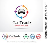 car trade logo template design... | Shutterstock .eps vector #355976747
