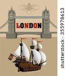london tower bridge. british...   Shutterstock .eps vector #355978613
