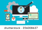 technology flat design. | Shutterstock .eps vector #356008637