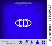 vector globe icons | Shutterstock .eps vector #356009117