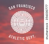 round gym logo  t shirt print ... | Shutterstock .eps vector #356030777