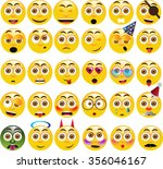 vector set of 30 yellow... | Shutterstock .eps vector #356046167