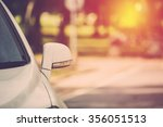 car parking. vintage filter. | Shutterstock . vector #356051513