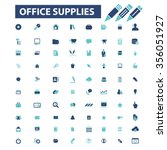 office work web  icons  signs... | Shutterstock .eps vector #356051927