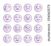 emoticon icons | Shutterstock .eps vector #356063573