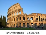 famous colosseum or coliseum in ... | Shutterstock . vector #3560786