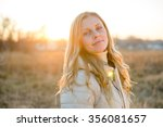 portrait of a smiling young... | Shutterstock . vector #356081657