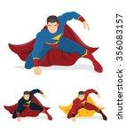 superhero over white background.... | Shutterstock .eps vector #356083157