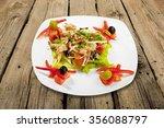 salad. | Shutterstock . vector #356088797