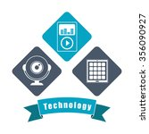 technology concept with... | Shutterstock .eps vector #356090927
