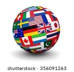 international business  travel... | Shutterstock . vector #356091263