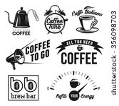 coffee related labels  badges... | Shutterstock .eps vector #356098703