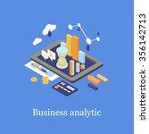 business concept 3d isometric...   Shutterstock .eps vector #356142713