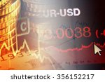 finance background with chart... | Shutterstock . vector #356152217