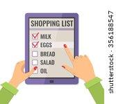 shopping list. application for...   Shutterstock .eps vector #356188547