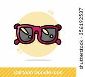 sunglasses color doodle | Shutterstock .eps vector #356192537
