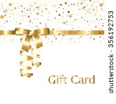 gold gift card with golden... | Shutterstock .eps vector #356192753