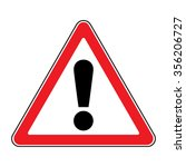 hazard warning attention sign.... | Shutterstock . vector #356206727
